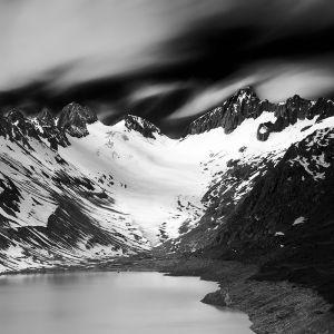 Oberaarhorn and Oberaar Glacier