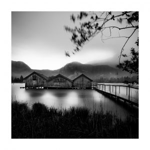 Kochelsee, boathouses, #3
